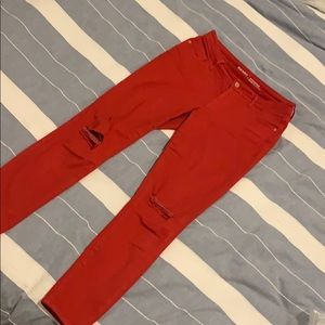 Old navy slim red jeans